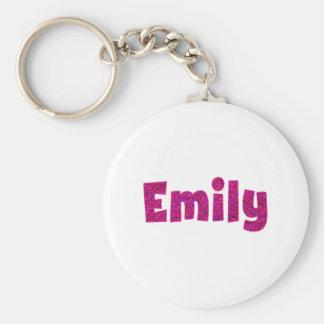 Emily Pink Glitter Keychain