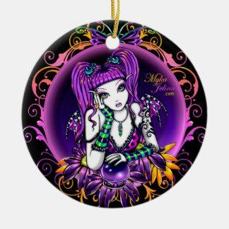 """""""Emily"""" Rainbow Crystal Ball Fairy Ornament"""