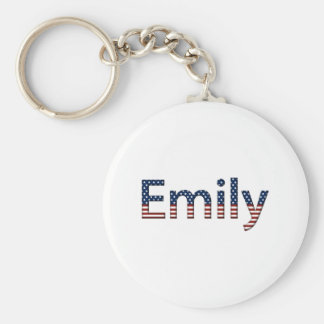 Emily Stars and Stripes Keychain