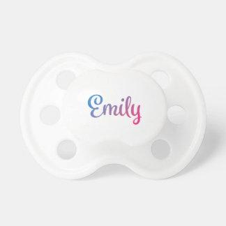 Emily Stylish Cursive Pacifier