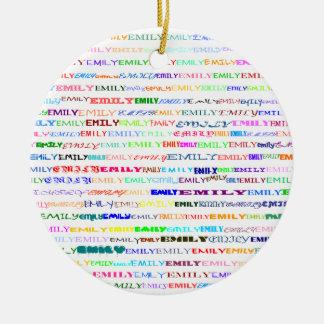 Emily Text Design II Ornament