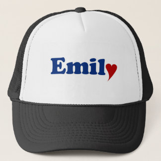Emily with Heart and Love Trucker Hat
