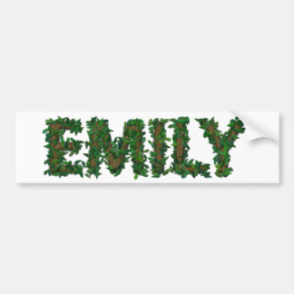 Emily Wood and Leaves Bumper Sticker