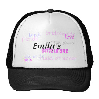 Emily's, entourage, bridesmaids, love, diamonds... trucker hat