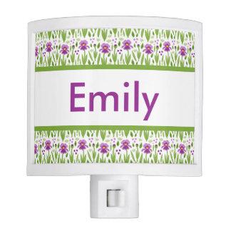 Emily's Personalized Iris  Night Light