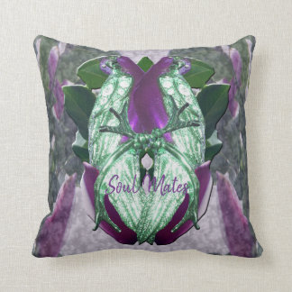 Eminece Magnolia Parrots Throw Pillow