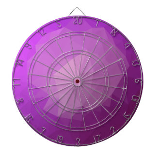 Eminence Violet Abstract Low Polygon Background Dartboard