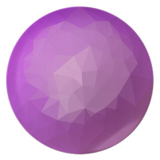 Eminence Violet Abstract Low Polygon Background Dinner Plate