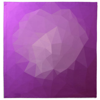 Eminence Violet Abstract Low Polygon Background Napkin
