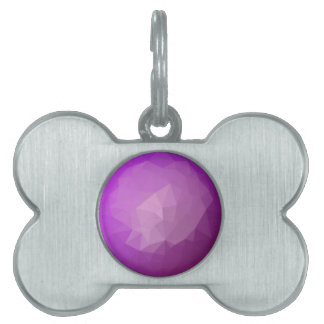 Eminence Violet Abstract Low Polygon Background Pet Tag