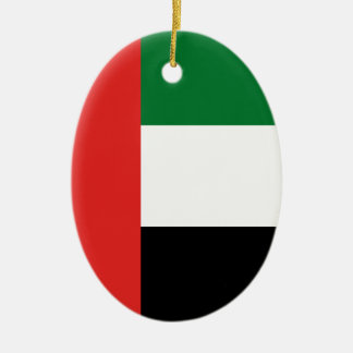 Emiradosarabes flag ceramic oval ornament