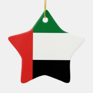 Emiradosarabes flag ceramic star ornament