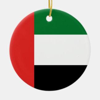 Emiradosarabes flag round ceramic ornament