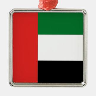 Emiradosarabes flag Silver-Colored square ornament
