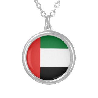 Emiradosarabes flag silver plated necklace