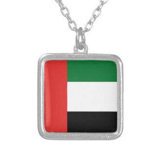 Emiradosarabes flag silver plated necklace