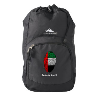 Emirate touch fingerprint flag backpack