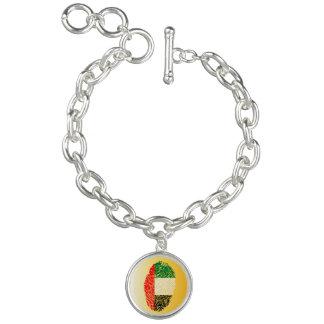 Emirate touch fingerprint flag charm bracelet