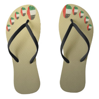 Emirate touch fingerprint flag flip flops