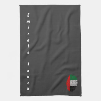 Emirate touch fingerprint flag hand towels