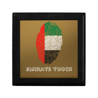 Emirate touch fingerprint flag keepsake boxes