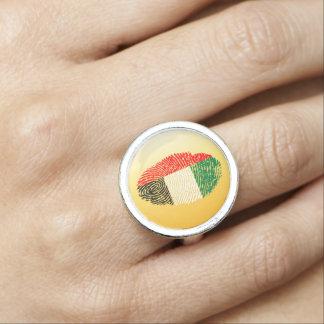 Emirate touch fingerprint flag ring