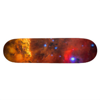 Emission Nebula NGC 2467 in Constellation Puppis Custom Skate Board