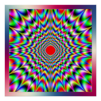 Emission of Vibrating Colors Poster