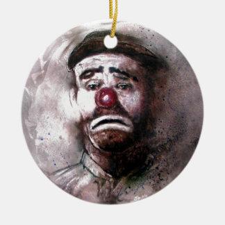 Emit Kelly Clown Art.jpg Ceramic Ornament