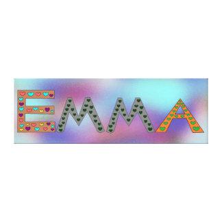 EMMA Adorable Girl's Name Abstract Design Canvas Print