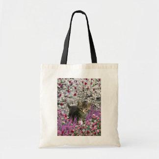 Emma in Flowers I – Little Gray Kitty Cat