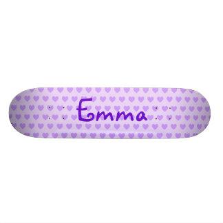 Emma in Purple Skateboard Deck