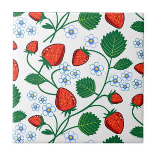 Emma Janeway Strawberries Tile
