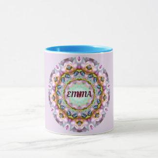 EMMA ~ Personalised Paua Shell Fractal ~ Mug