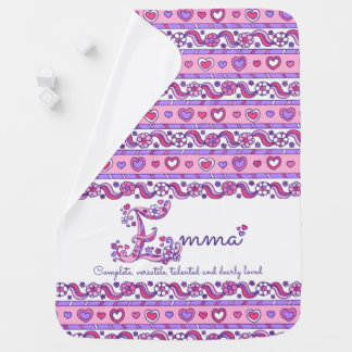 Emma personalize name meaning baby blanket