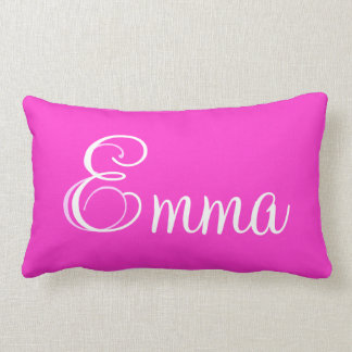 Emma Pink Lumbar Personalized Pillow