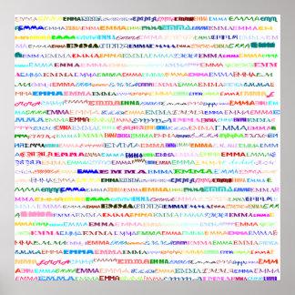 Emma Text Design II Print