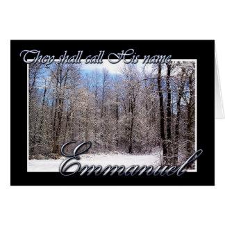 Emmanuel Christmas Card