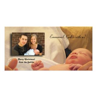 Emmanuel, God is with us! Card