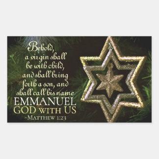 Emmanuel God with Us Matthew 1:23 Christmas Bible Sticker
