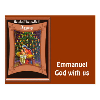 Emmanuel, God with us Postcard