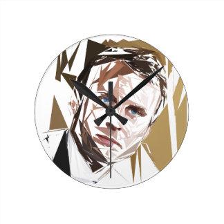 Emmanuel Macron Round Clock