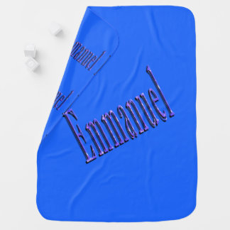 Emmanuel, Name, Logo, Baby Boy Blue Blanket