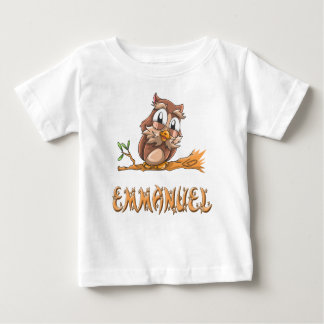 Emmanuel Owl Baby T-Shirt