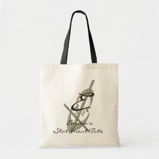 Emma's Abstract Cello Statement Tote