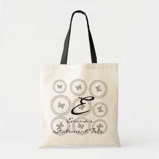 Emma's Cute Chic Butterflies  Statement Tote
