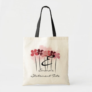 Emma's Cute Chic Pink Flower Floral Statement Tote