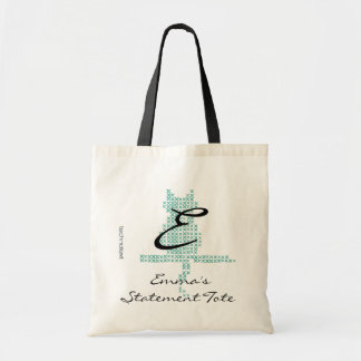 Emma's Cute Mint Cat Statement Tote
