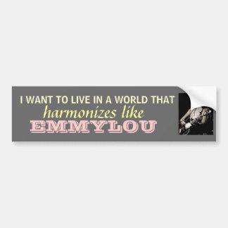 Emmylou Harris - Harmonize bumpersticker Bumper Sticker