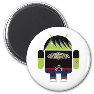 Emo Andy the Android 2 Inch Round Magnet